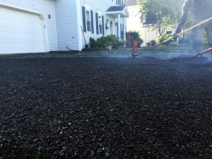 heated asphalt driveway