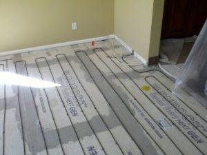 Cozy Heat Space Heating - Backerboard Subfloor