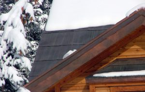 Invisible Deicing/Snow Control shingled roof