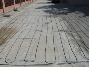 Snow Melting - Hott-Wire in New Pour Concrete Driveway