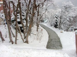 Snow Melting - Concrete Walkway