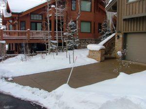 Snow Melting - Concrete Driveway