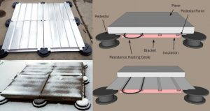 Pedestal Paver Snow Melting